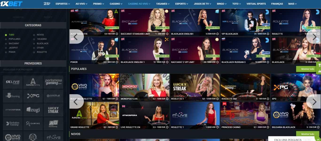 casino para 1xBet live stream